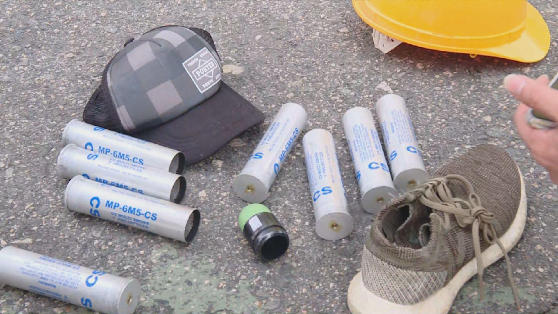 警方重申不會使用過期催淚彈