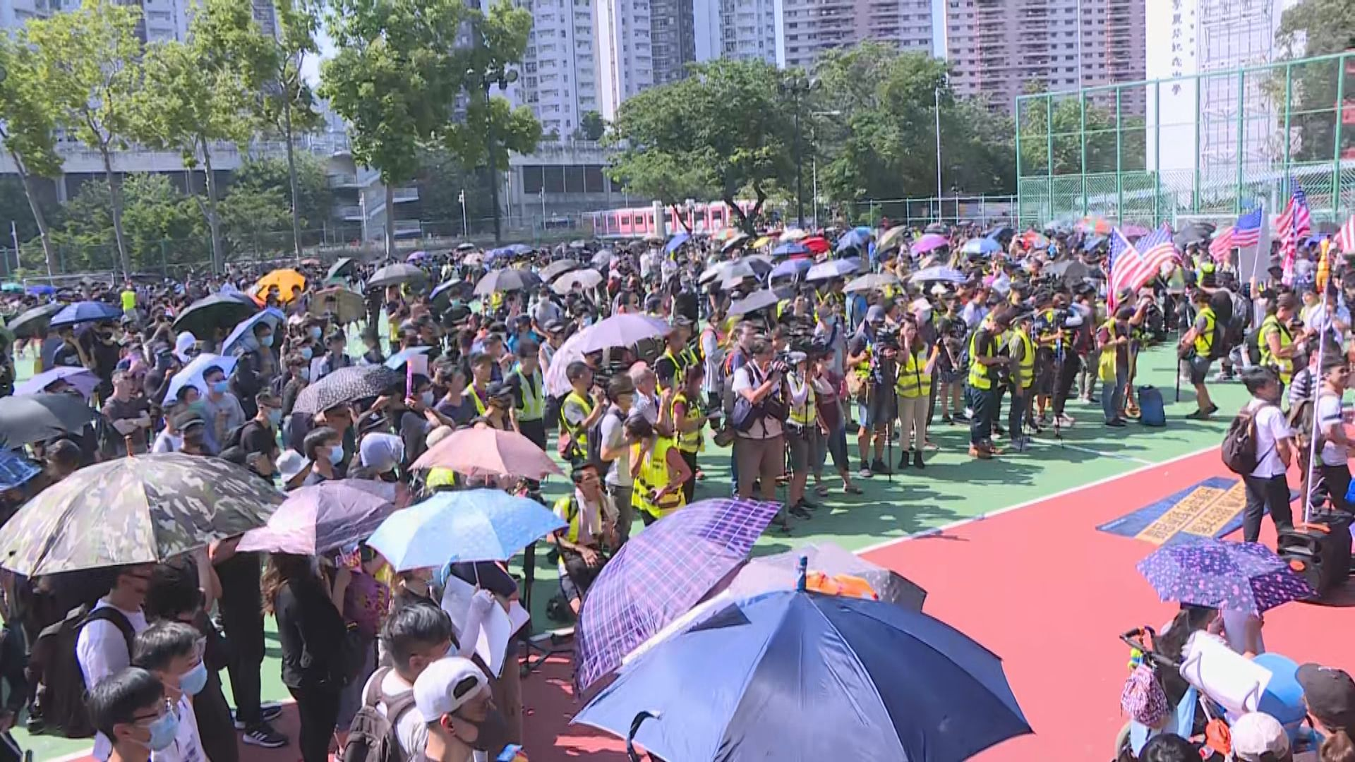 有團體發起光復屯門公園遊行反映噪音等問題