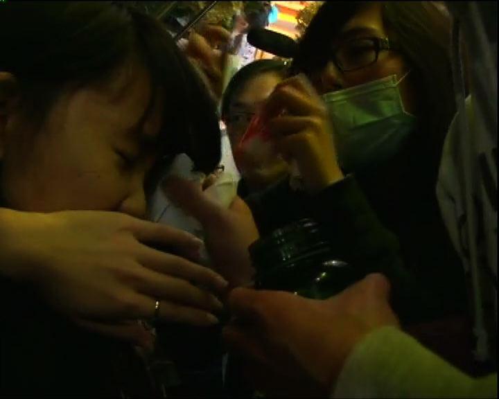 有屯門示威者指警方施放胡椒噴霧