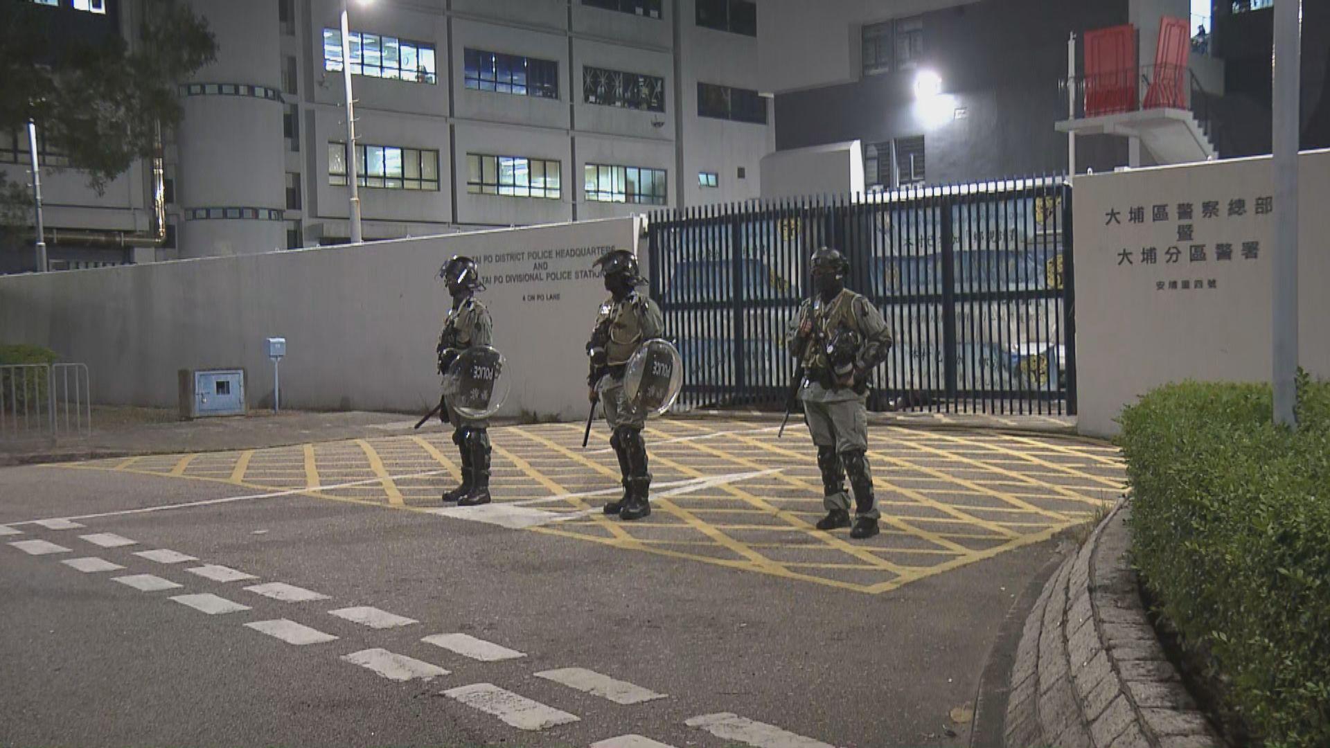大埔警署被擲汽油彈 無人受傷