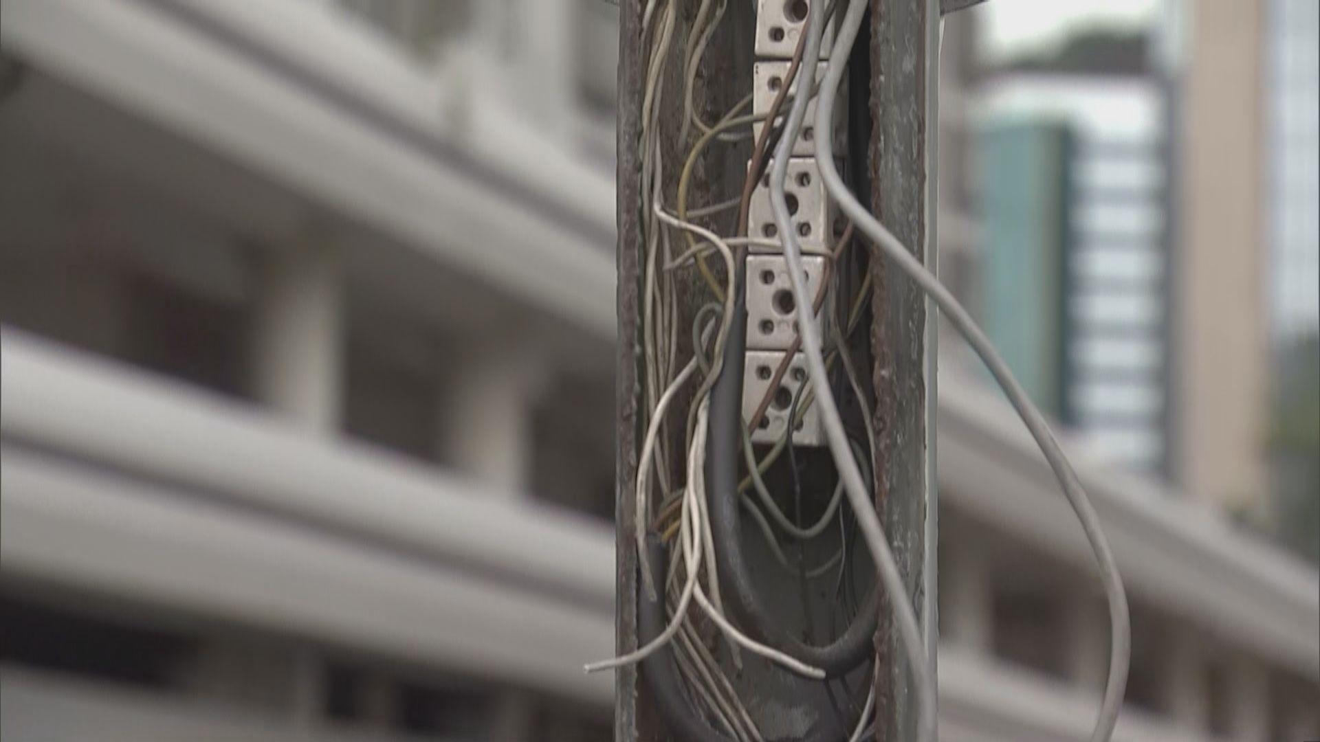 警方:117組交通燈電線被剪斷