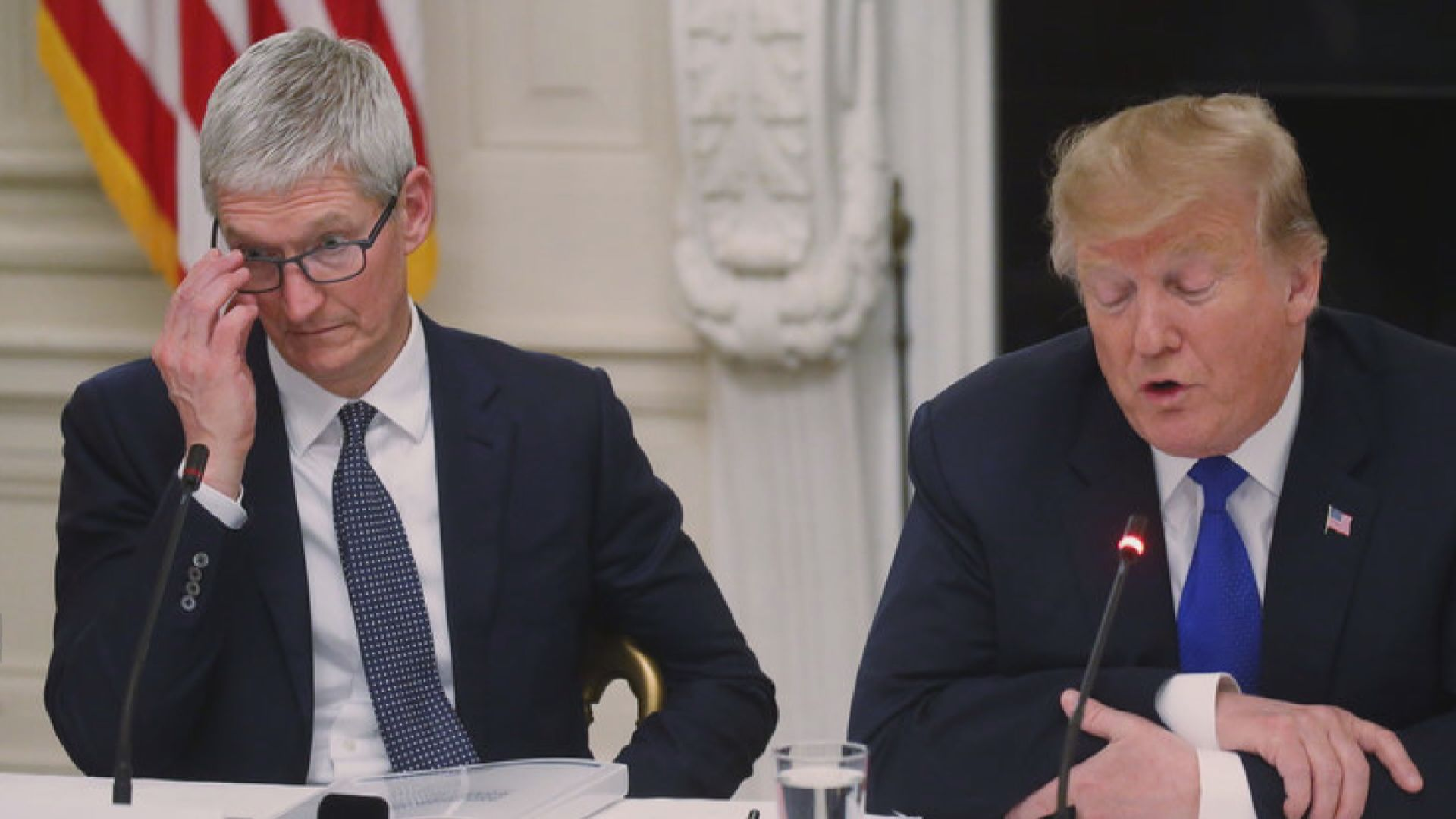 特朗普:庫克憂面對三星 蘋果將因關稅失優勢