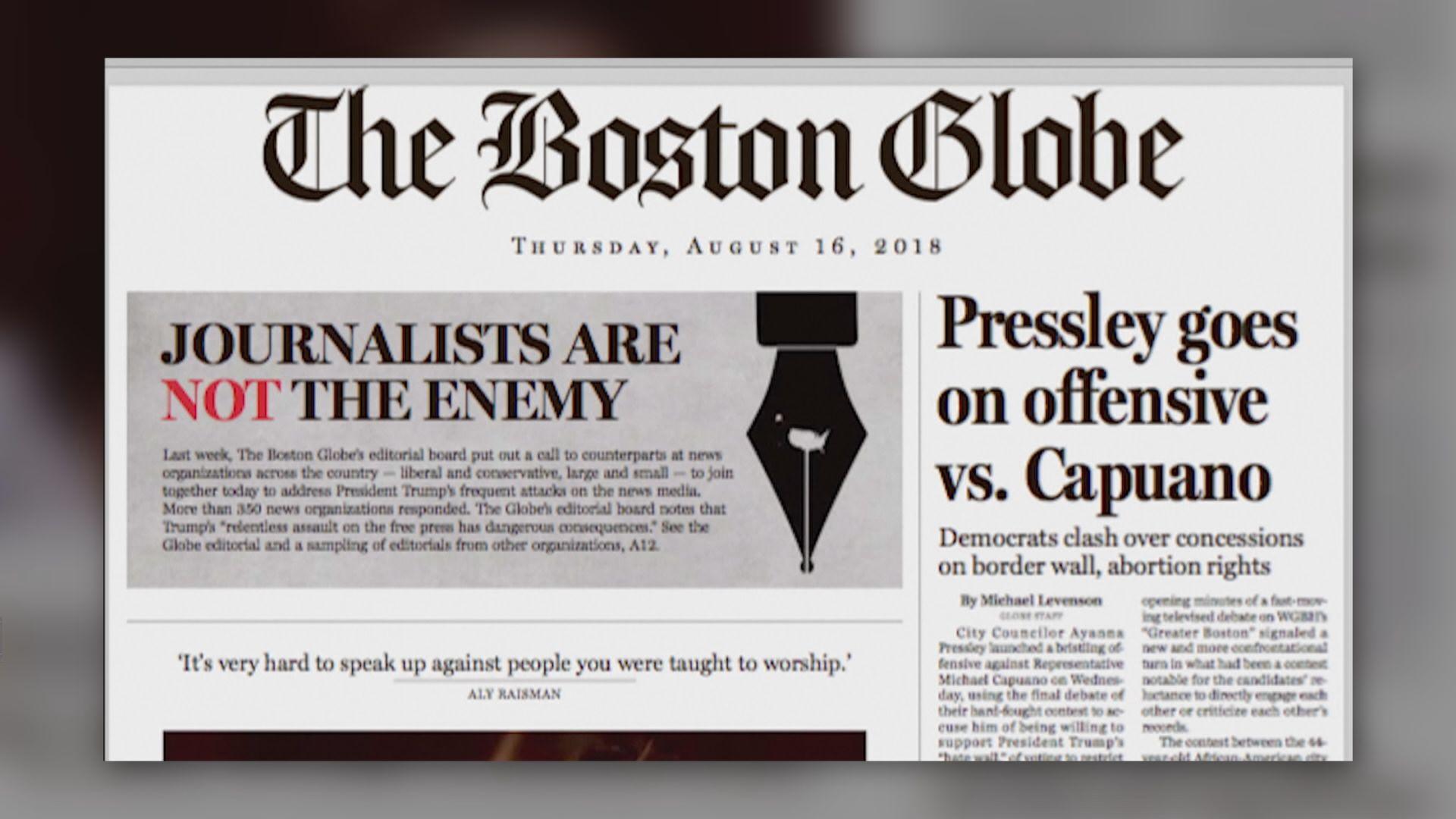 美報章發文反擊特朗普攻擊傳媒