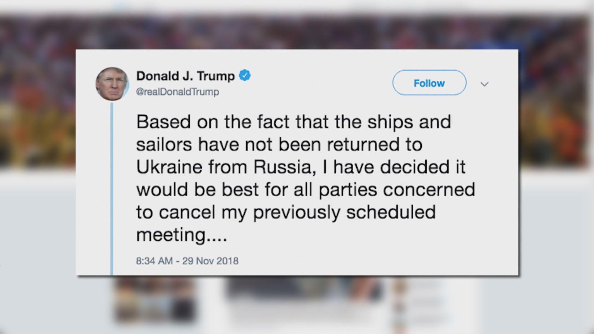 特朗普突然宣布取消與普京會面