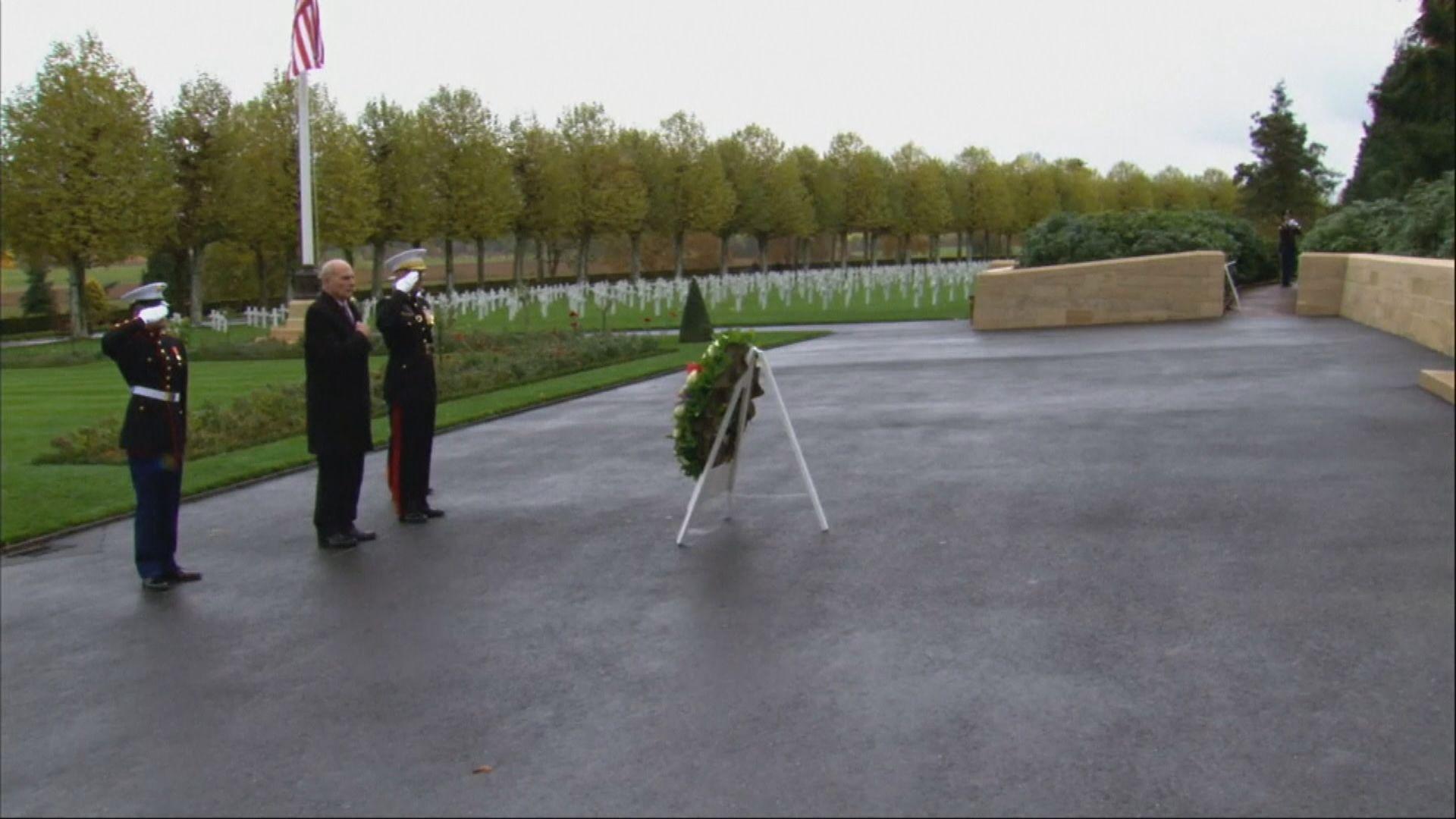 特朗普因天雨取消到美軍公墓獻花