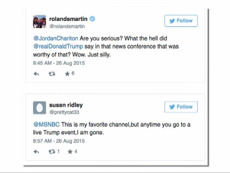 電視台經常直播特朗普活動惹批評