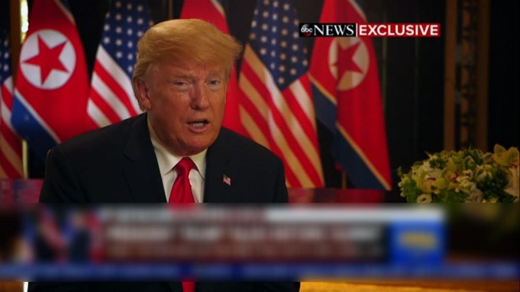 特朗普稱信任金正恩尋求北韓棄核
