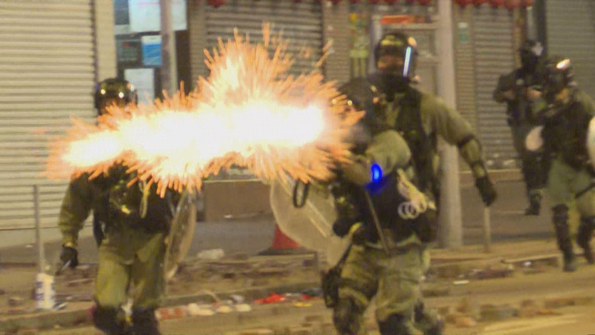 油尖旺示威者持續聚集與警爆衝突