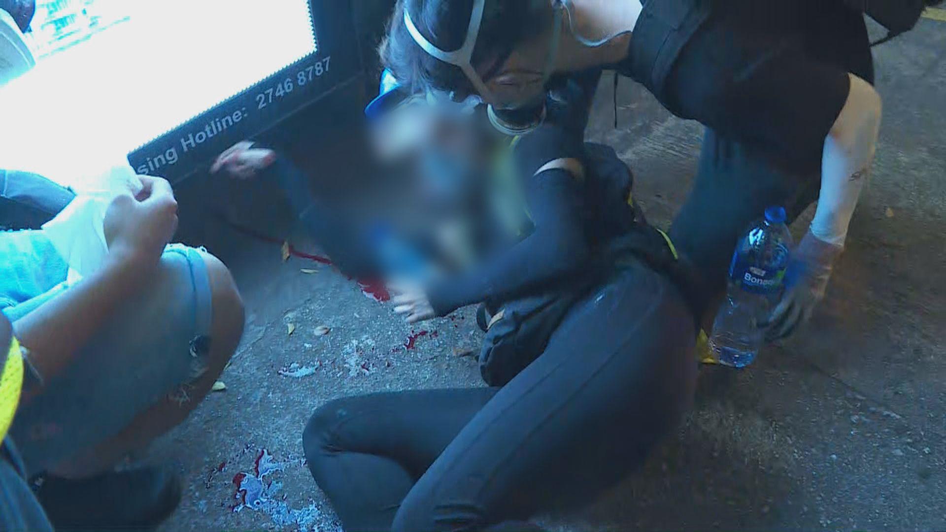消息指彌敦道有女示威者中槍眼球破裂
