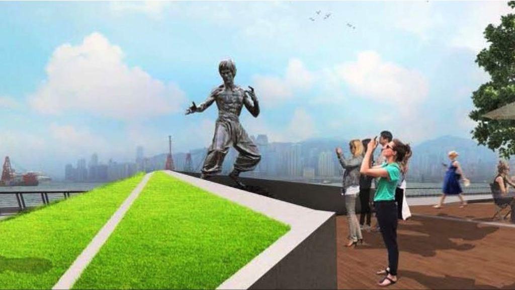 星光大道銅像加入流水階梯設計