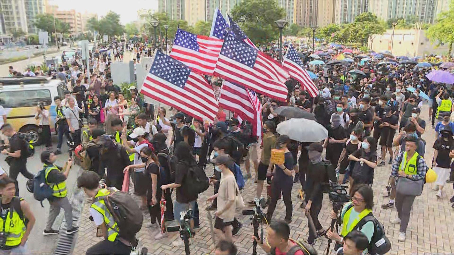 天水圍遊行遭警反對 繼續有市民自發遊行