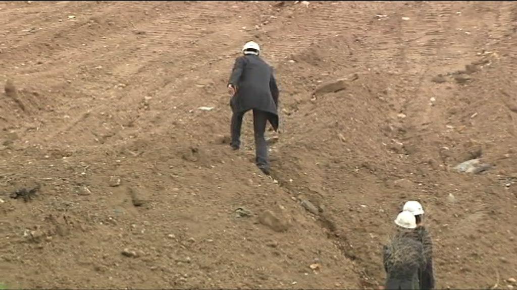 工程人員:泥頭山噴漿工程非永久性