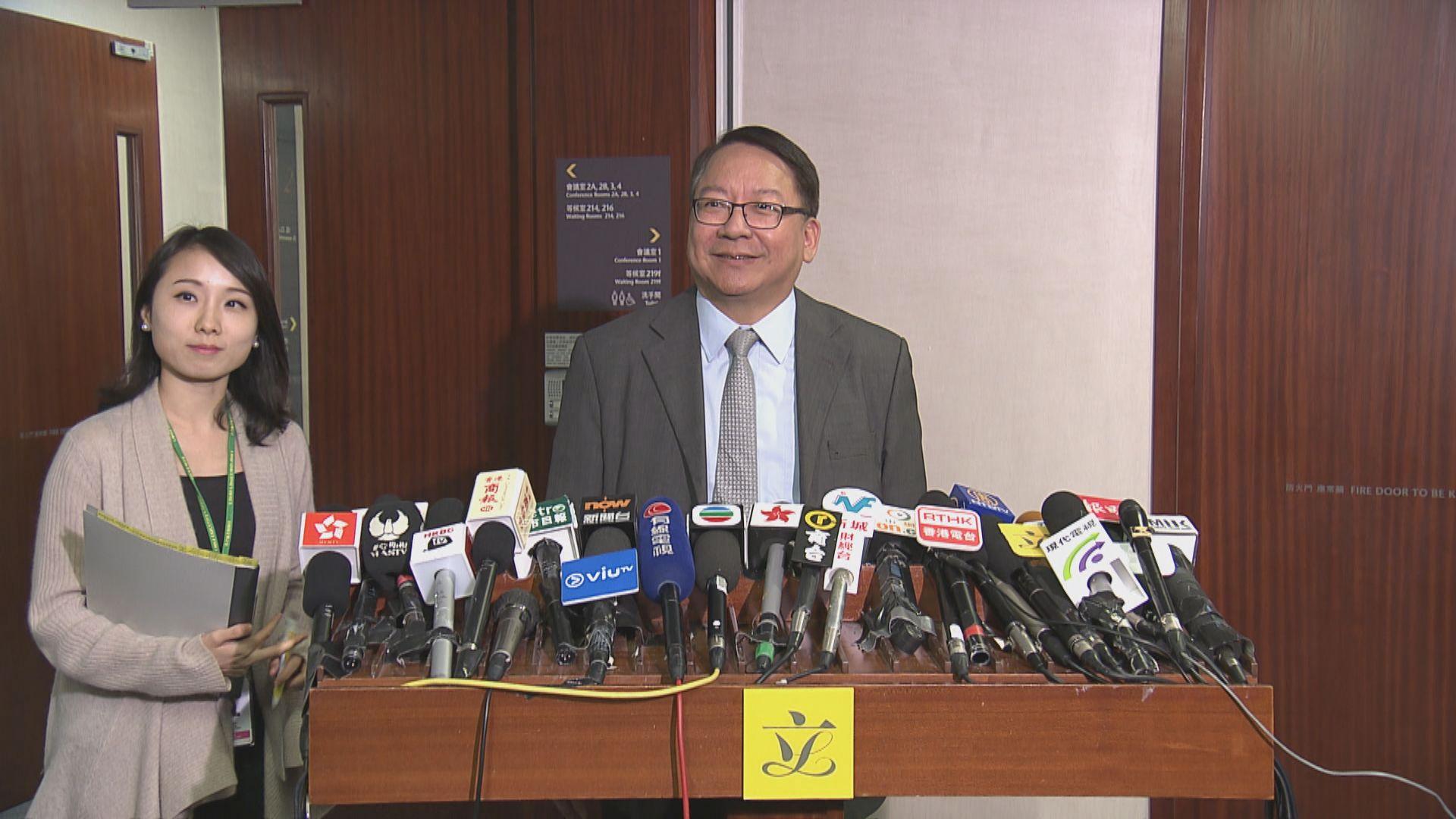 陳國基:若三隧分流議案遭否決不會繼續爭取