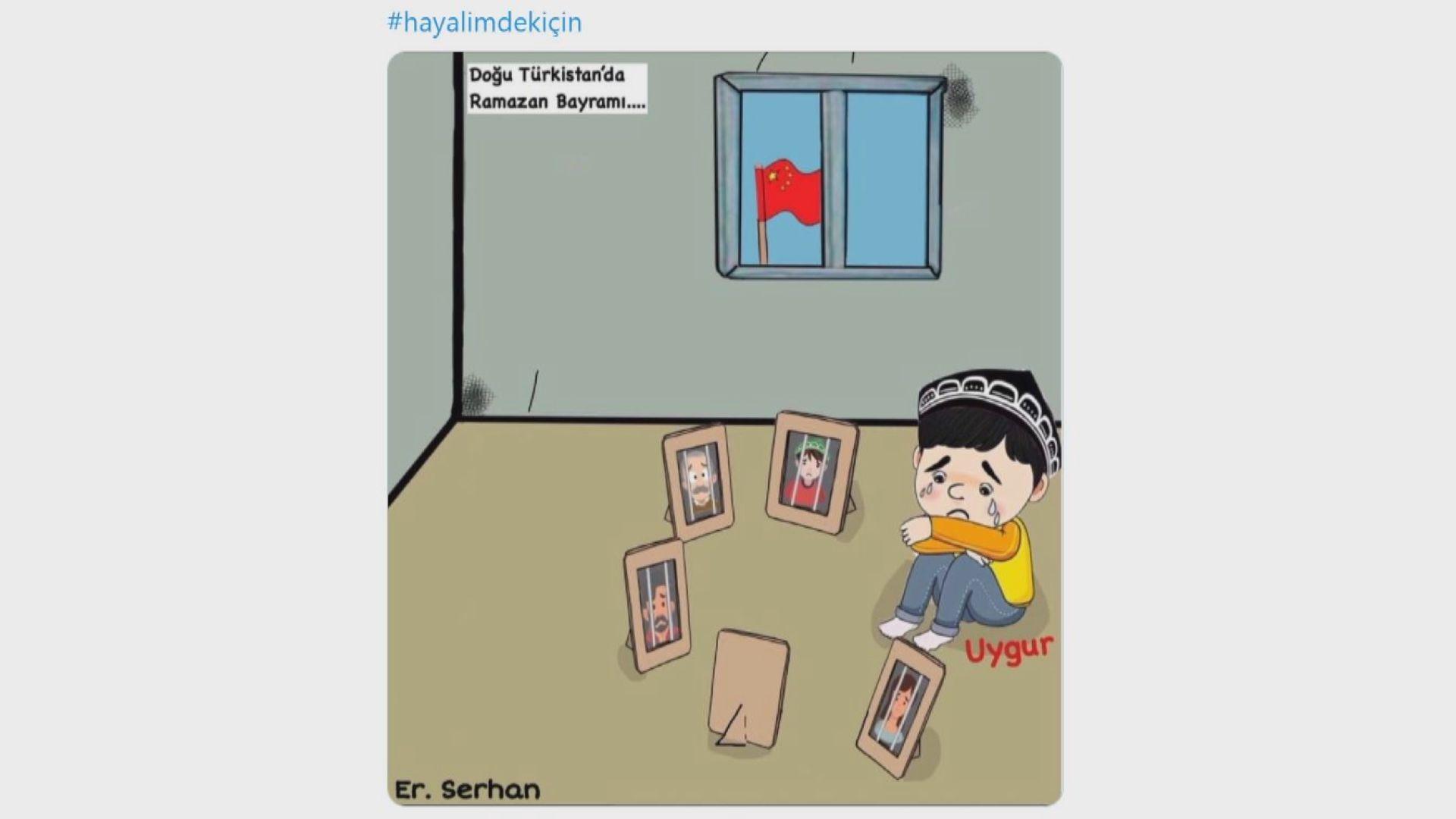 土耳其網民上載畫作批中國打壓維吾爾族