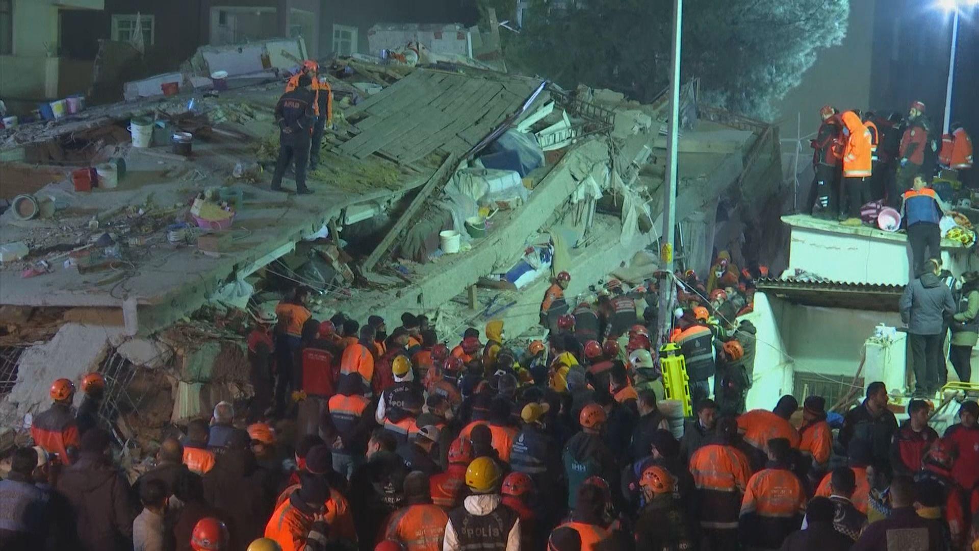 土耳其八層住宅倒塌兩死