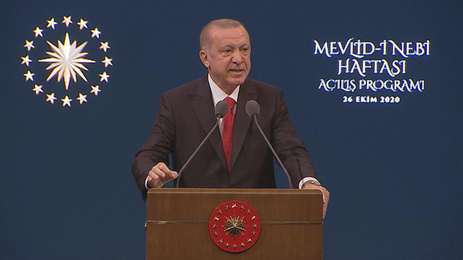 土耳其總統埃爾多安續炮轟馬克龍 呼籲民眾抵制法國貨