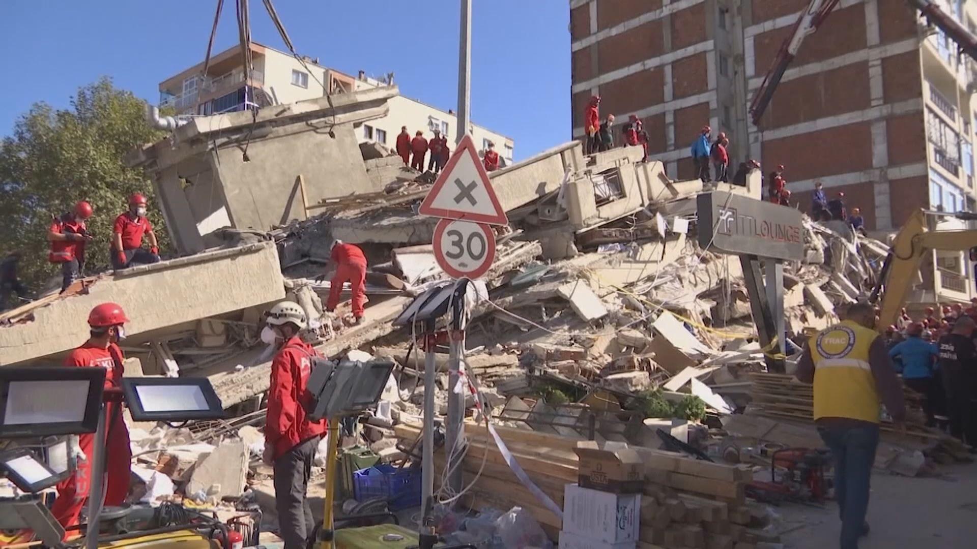 愛琴海地震土耳其希臘最少30死 約百位被困民眾陸續獲救