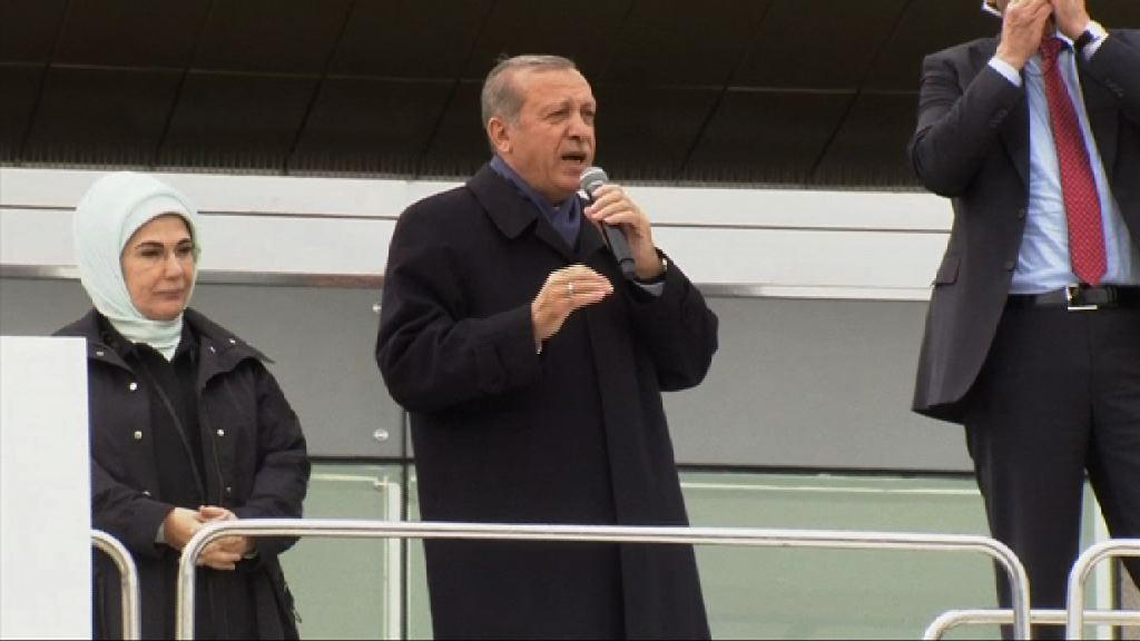 土耳其總統埃爾多安批外國勢力圖阻修憲