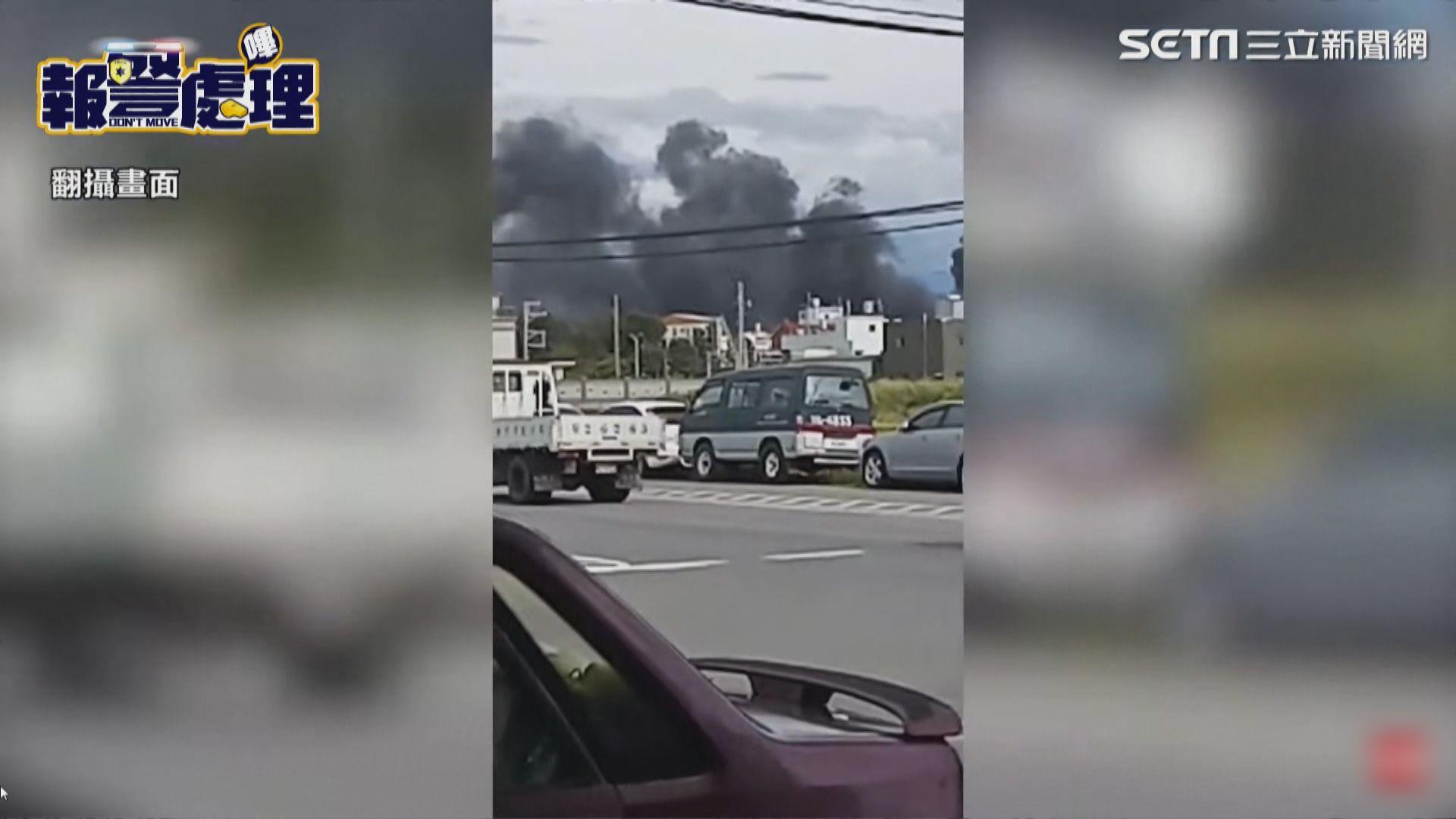 台灣參與漢光軍演直升機墜落地面 兩官兵罹難