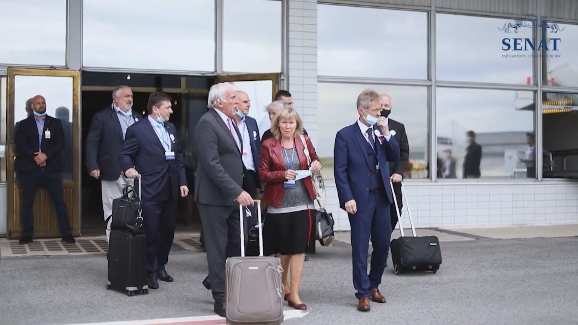 捷克參議院議長率團訪台 預計今早抵達