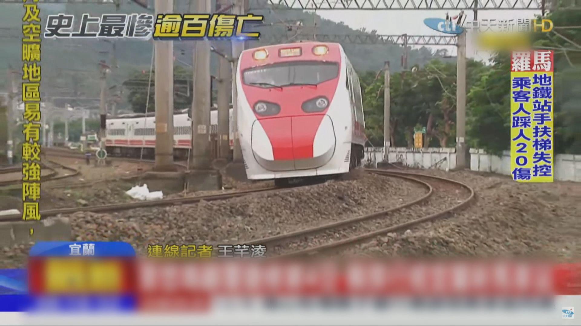 台灣普悠瑪列車恢復雙線行車