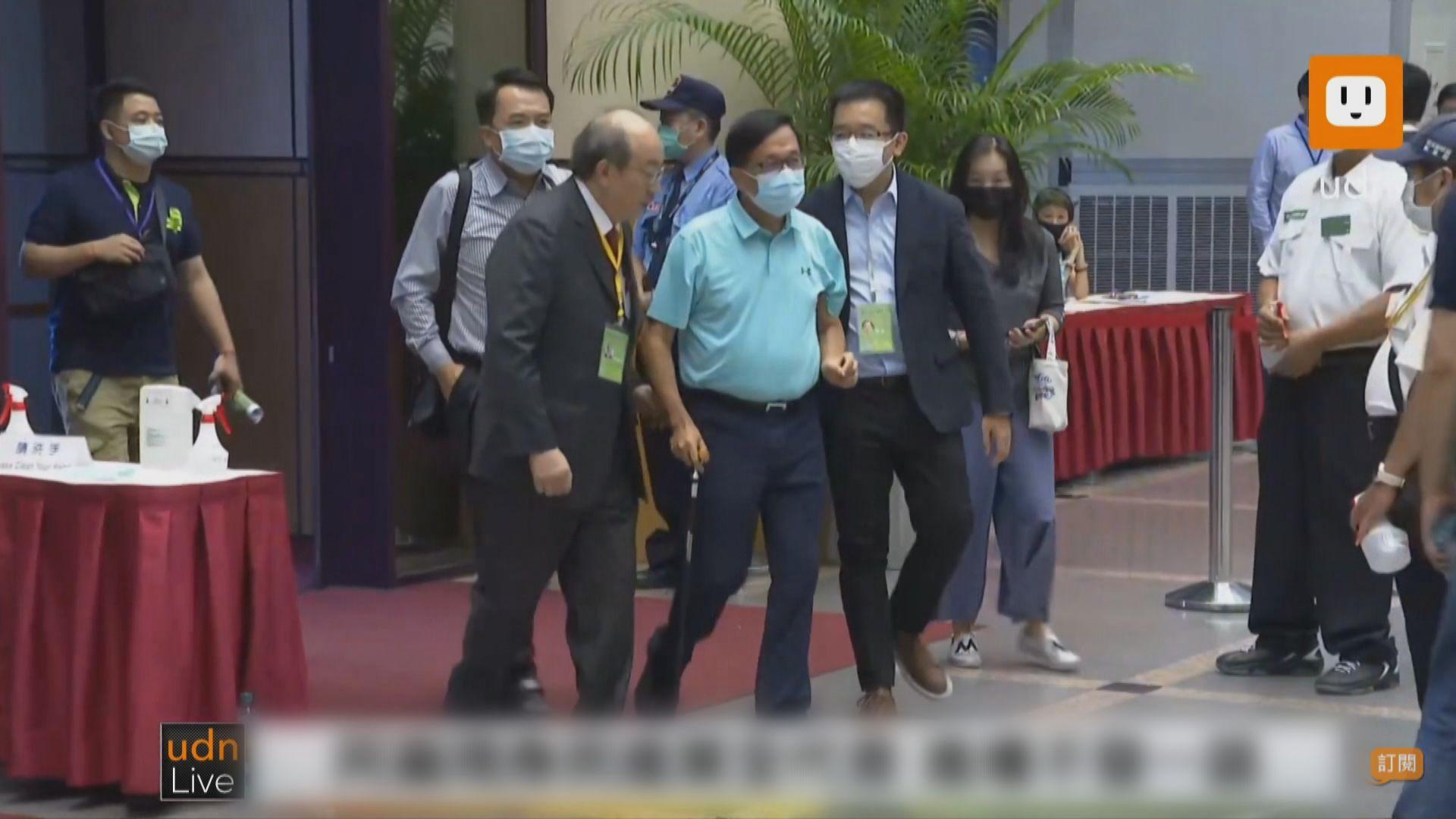 民進黨黨員代表大會陳水扁前總統到場投票