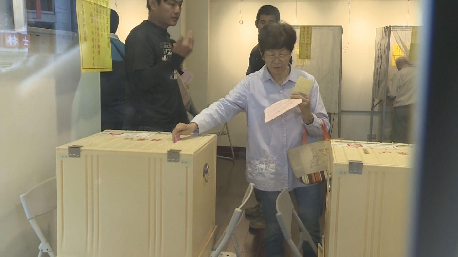 台灣九合一選舉 選民反應踴躍