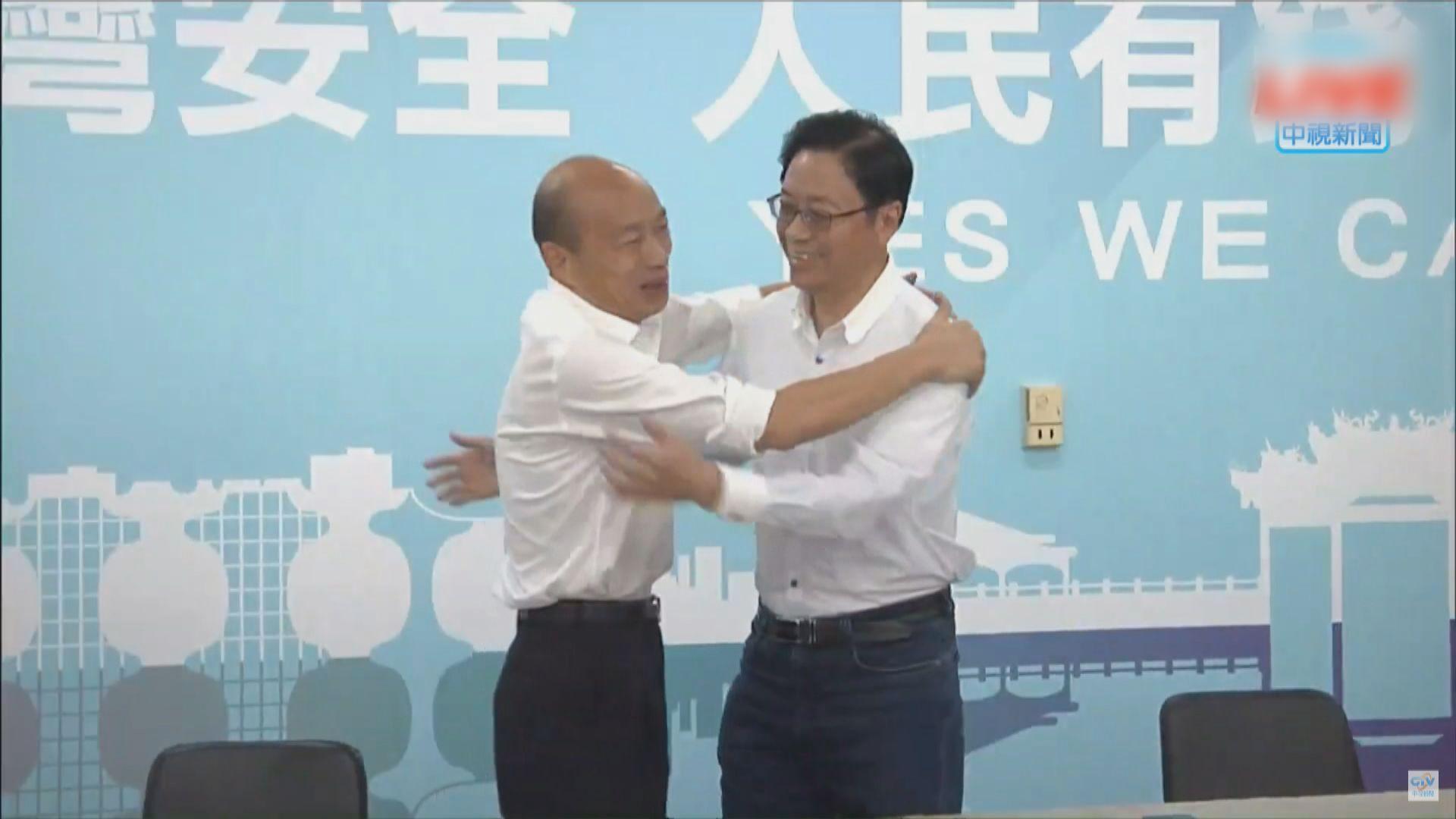 前行政院長張善政擔任韓國瑜競選副手