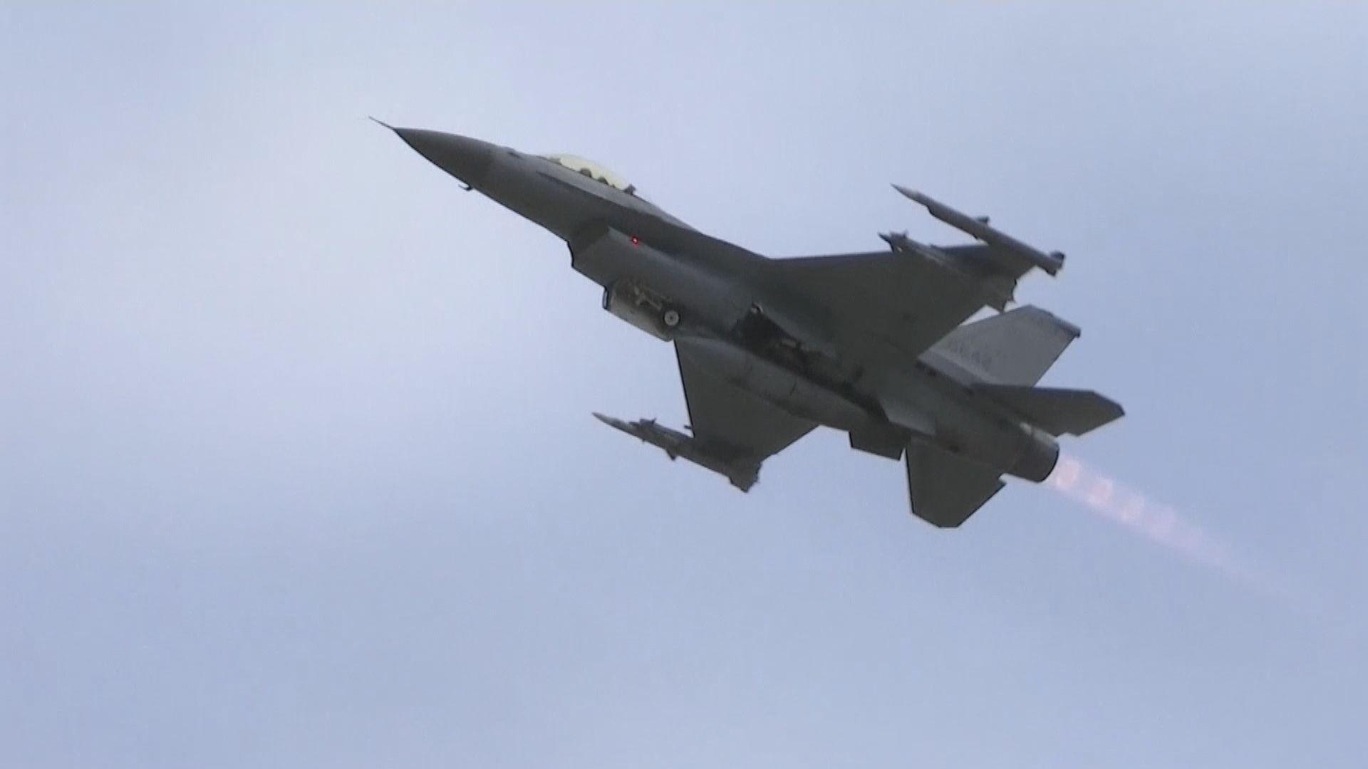台F16戰機花蓮夜間訓練時失蹤