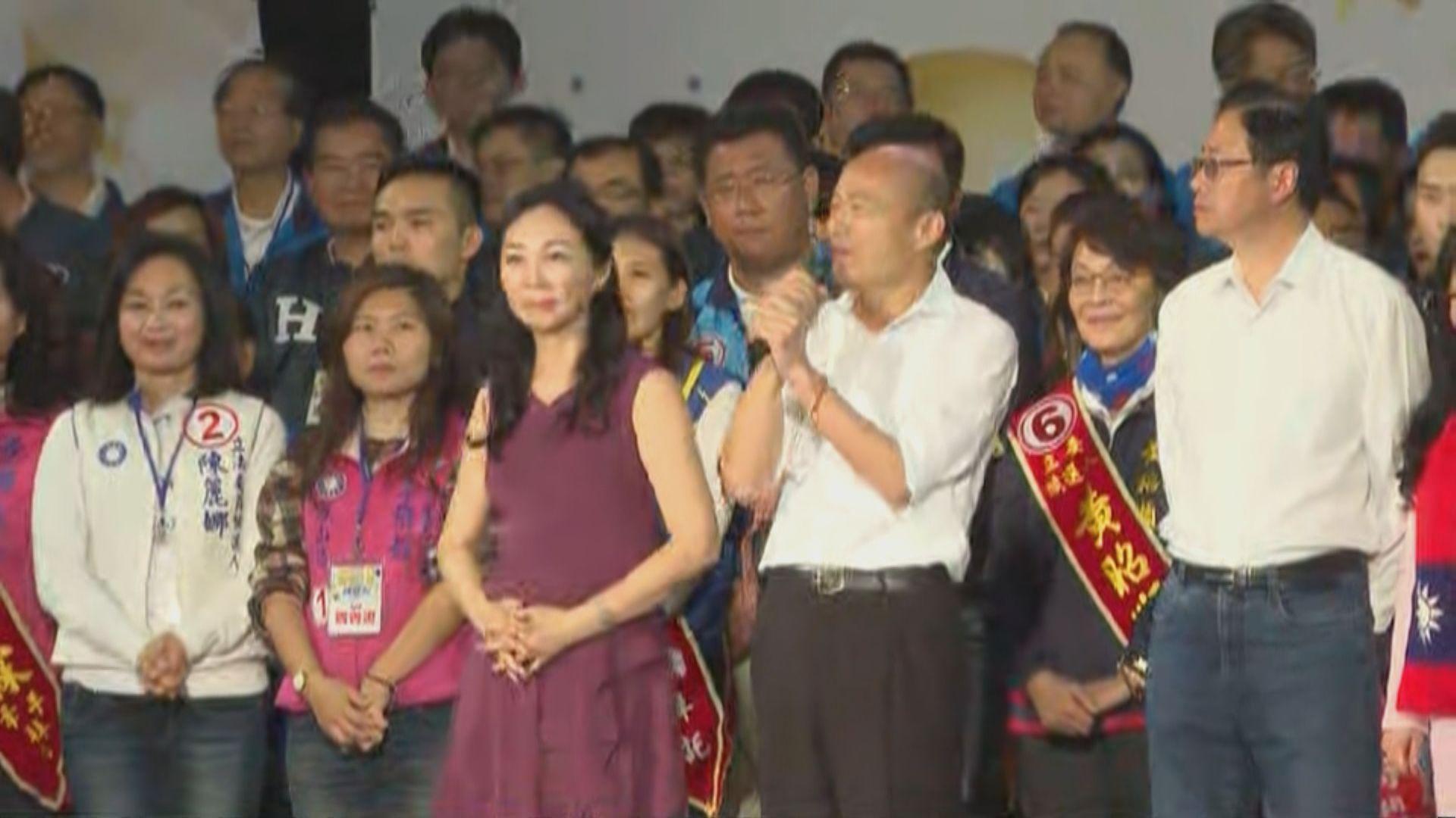 韓國瑜高雄造勢晚會 立委候選人等呼籲選委投票