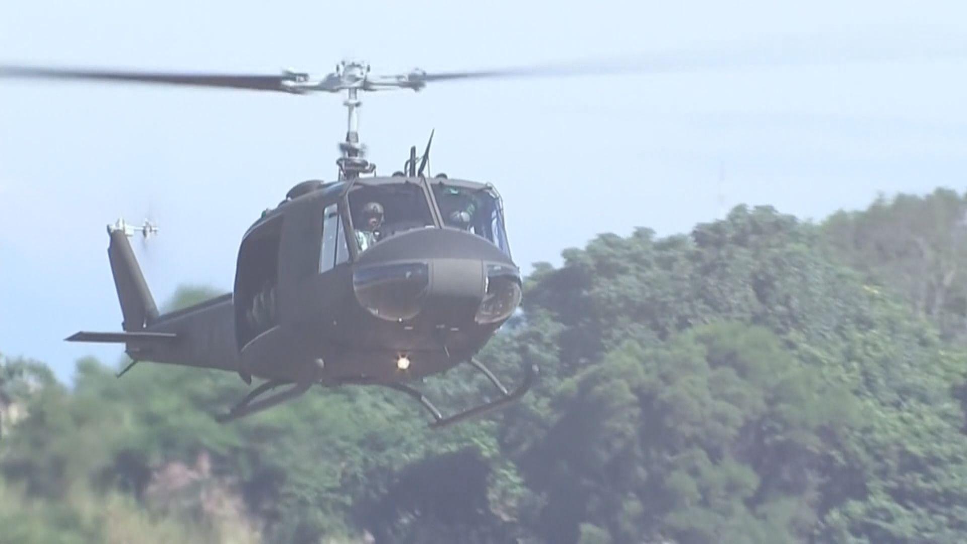 台軍黑鷹直升機迫降 參謀總長據報獲救