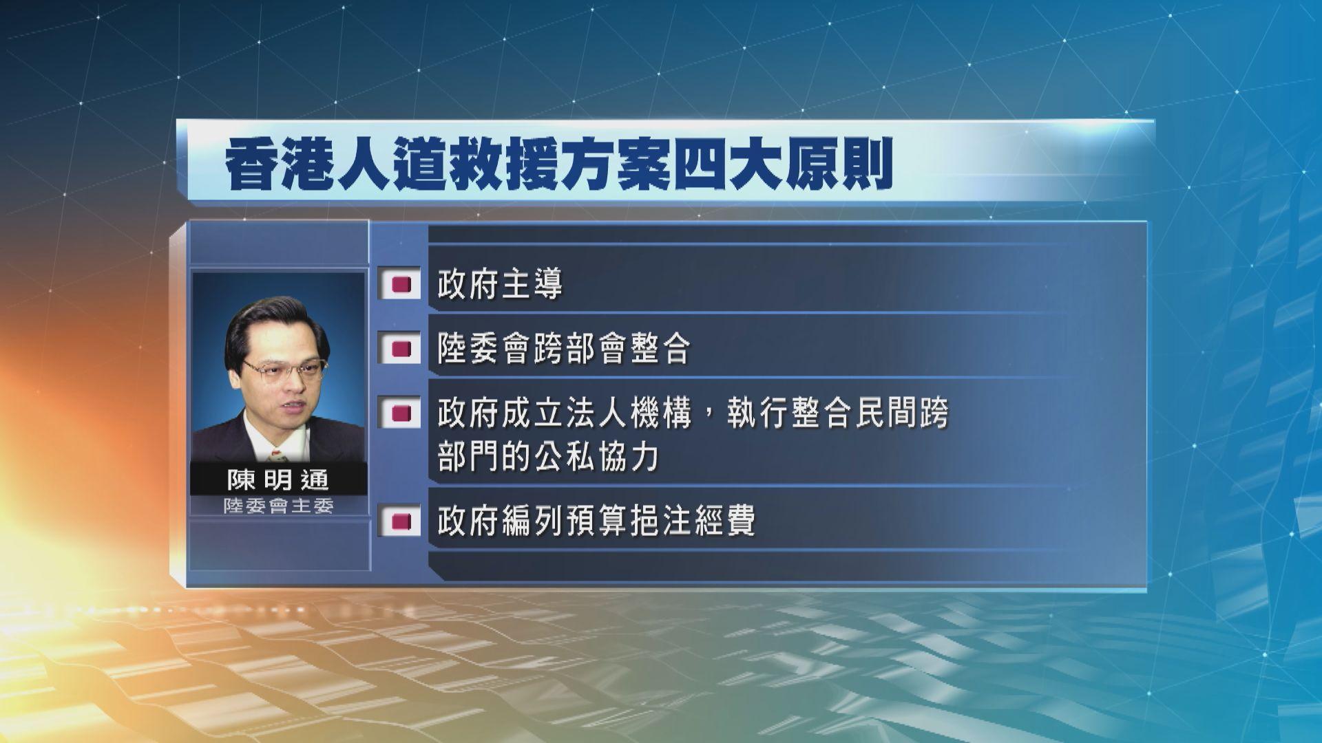 台灣就香港人道救援行動方案提四原則