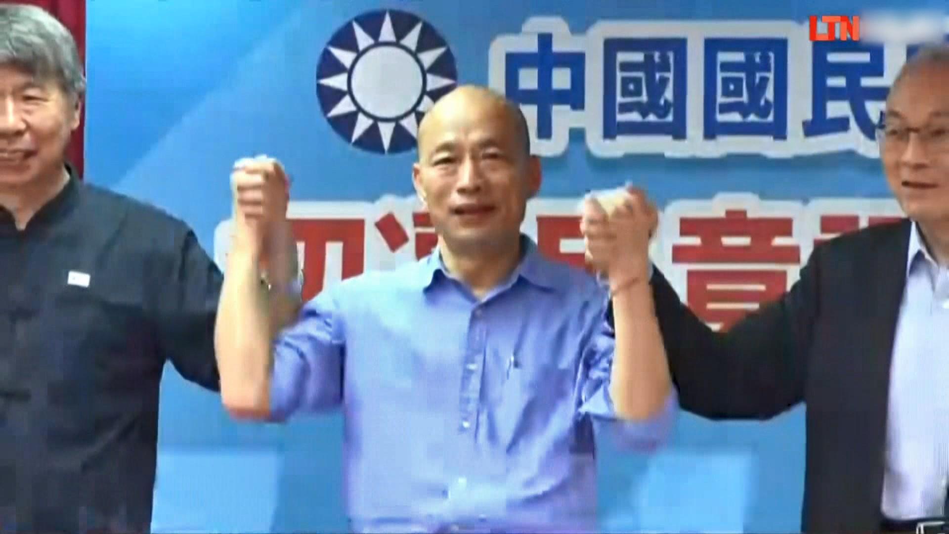 韓國瑜勝出黨內初選後拜訪朱立倫