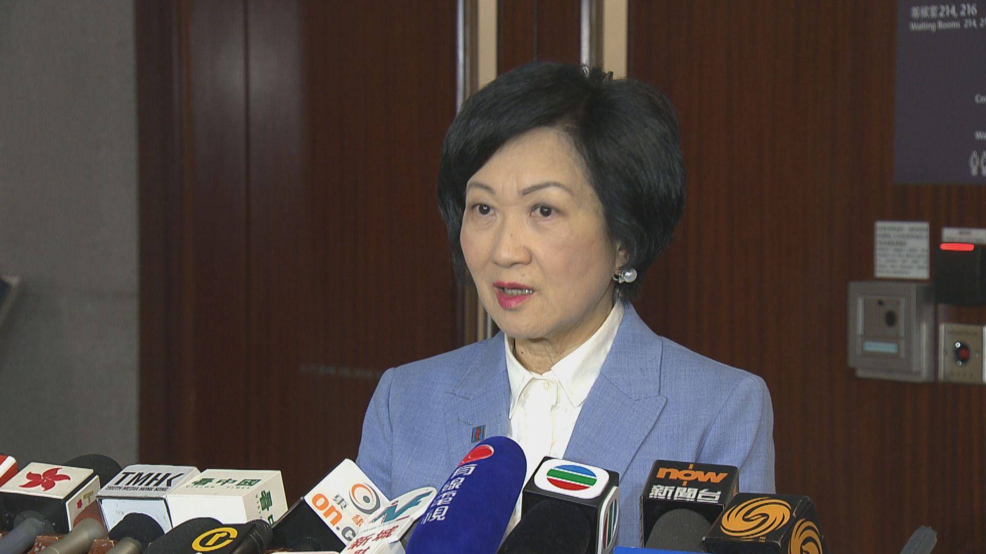 葉劉淑儀:台灣派檢警押解陳同佳不可行