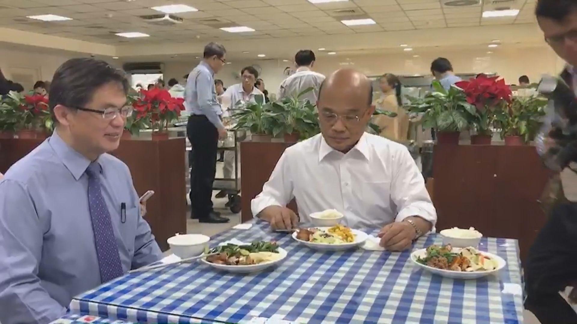 蘇貞昌下午赴桃園視察非洲豬瘟防疫