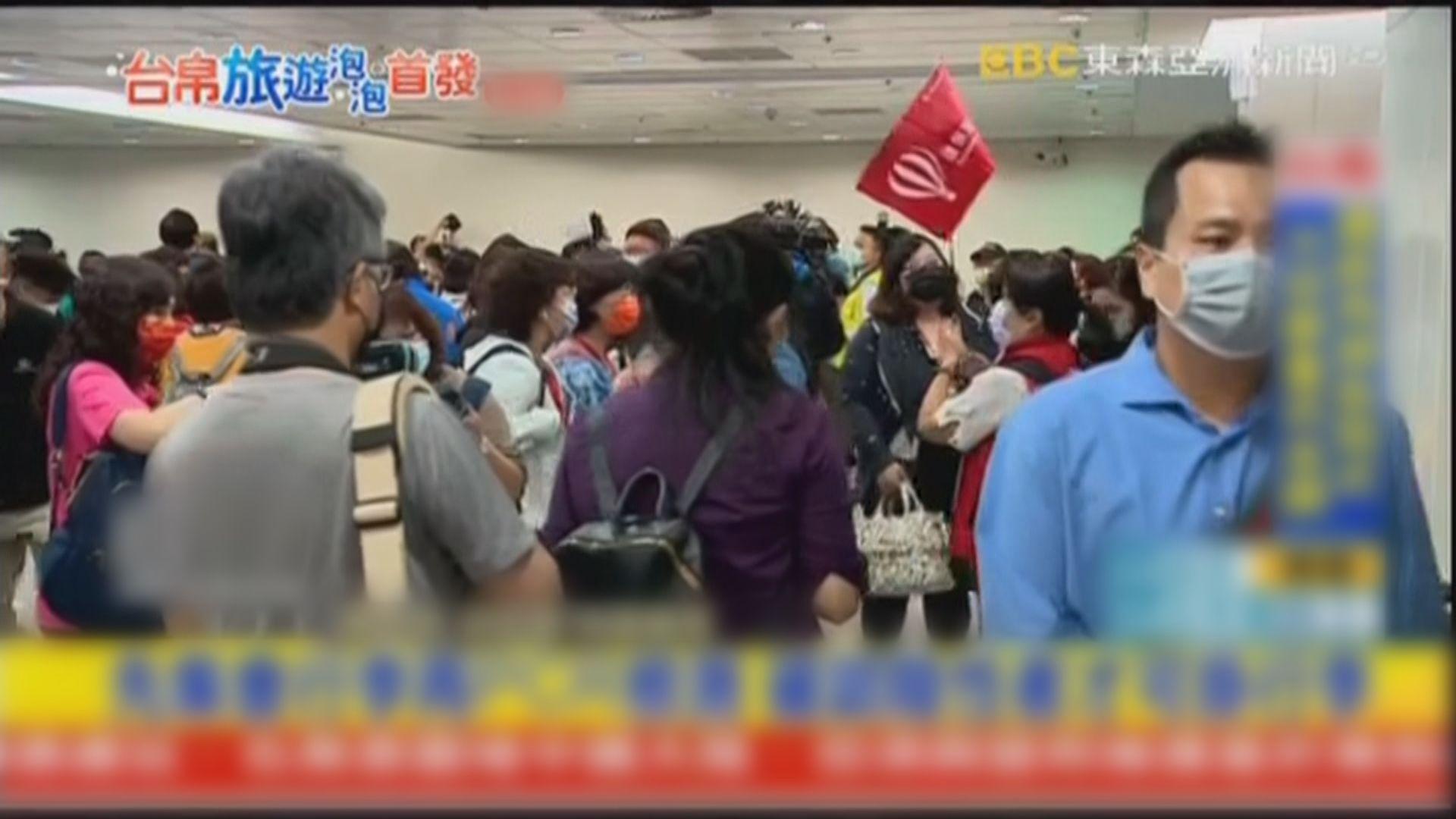 台灣與帕勞旅遊氣泡首批近百名旅客準備出發