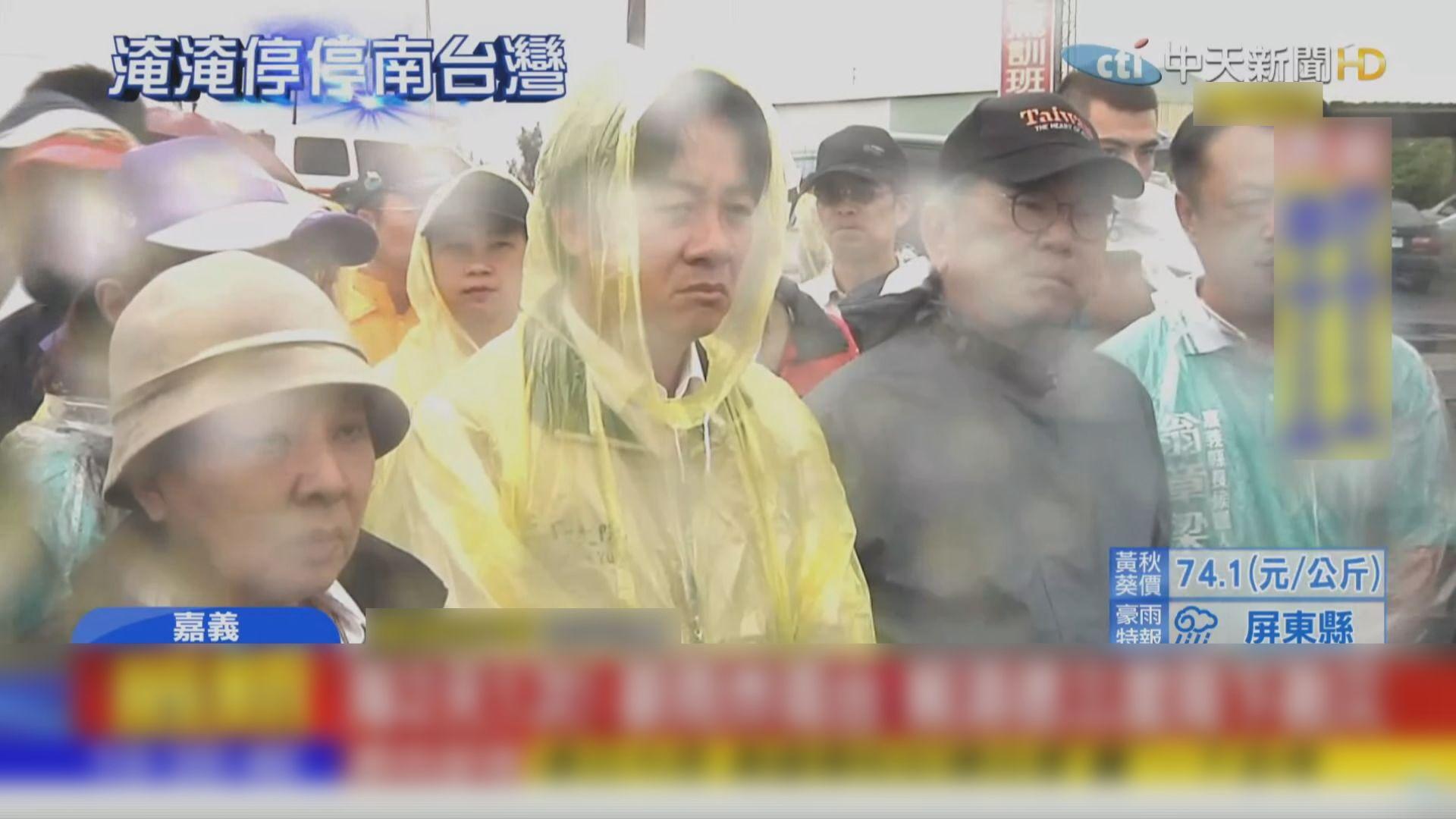 台灣南部持續大雨 賴清德再視察災情