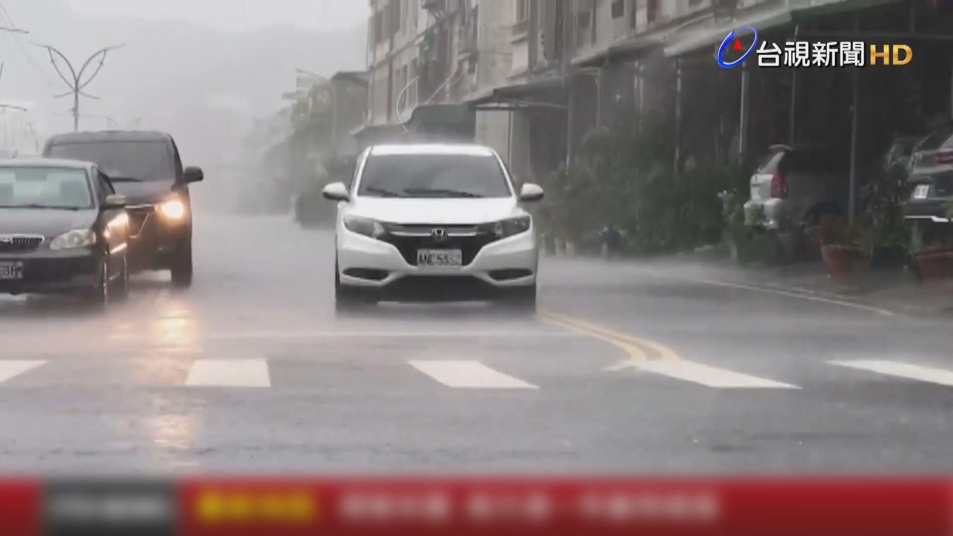 燦都沿台灣東部北上多個縣市嚴防暴雨 花蓮二千人疏散