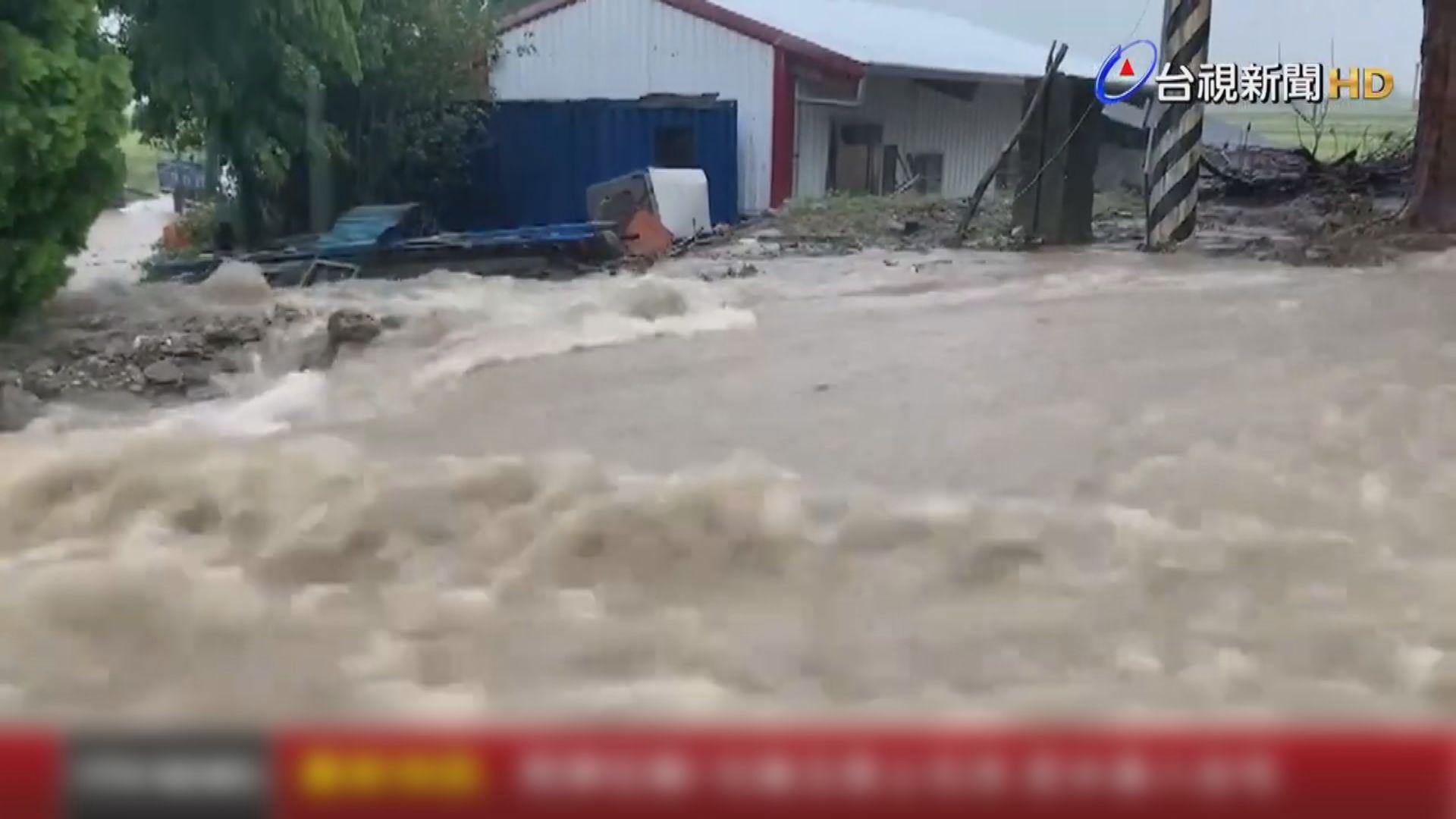 花蓮及台東大雨 居民撤離免受泥石流威脅