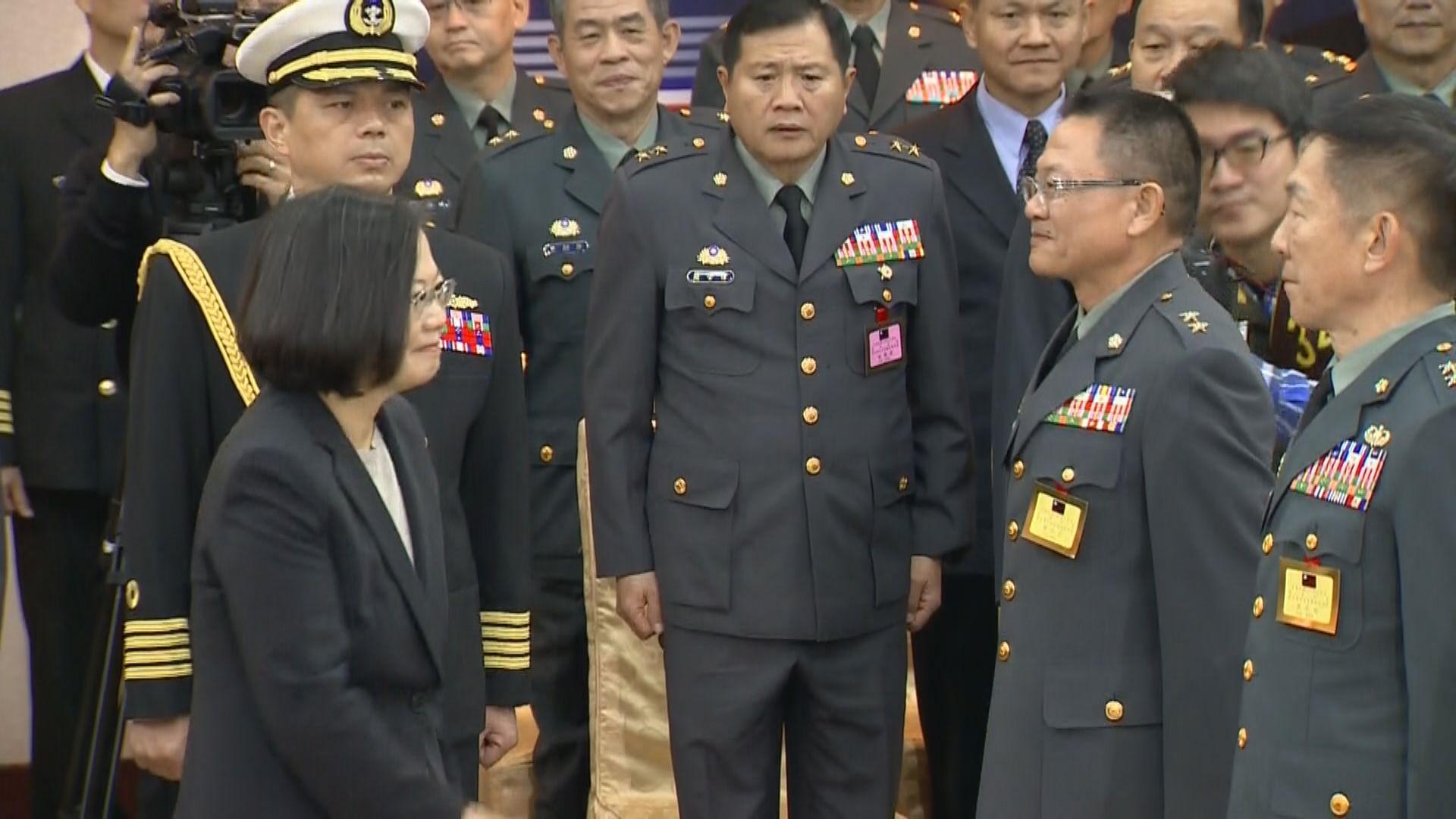 蔡英文:須靠堅實國防守護台灣