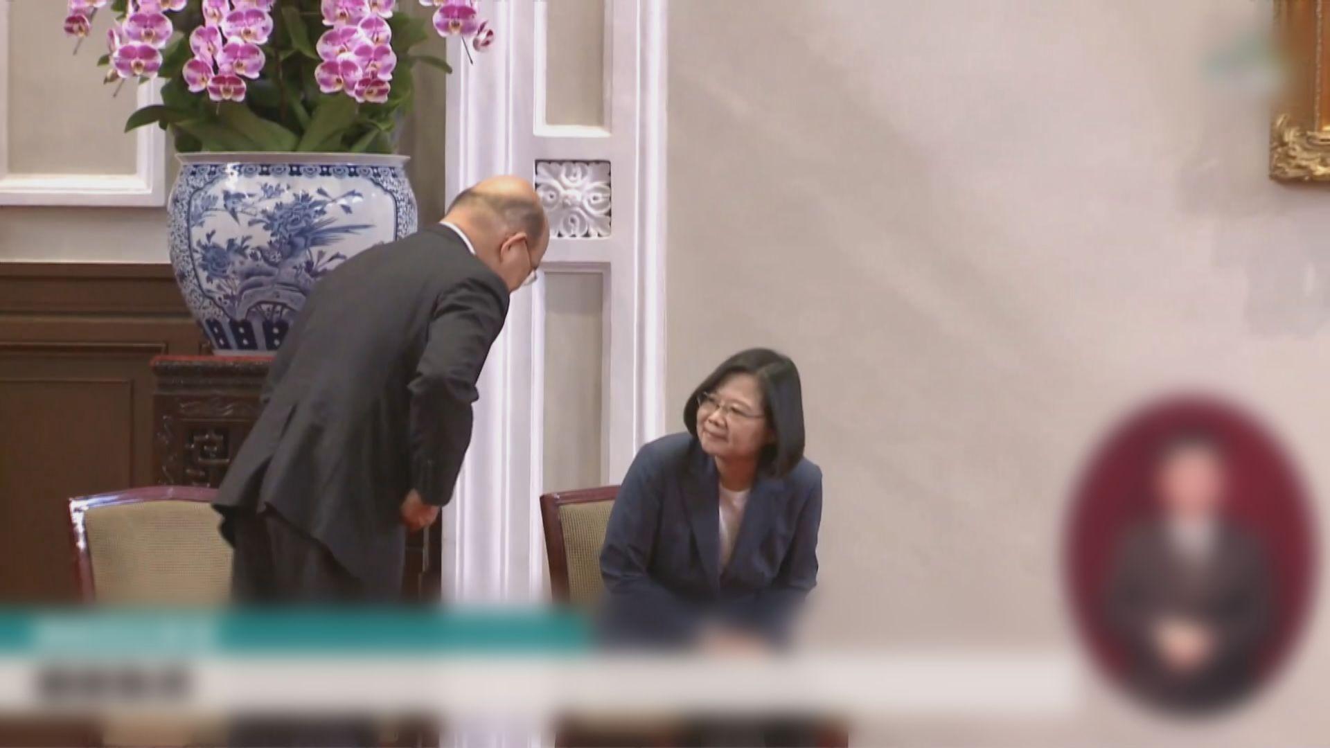 蔡英文宣布蘇貞昌續任行政院長