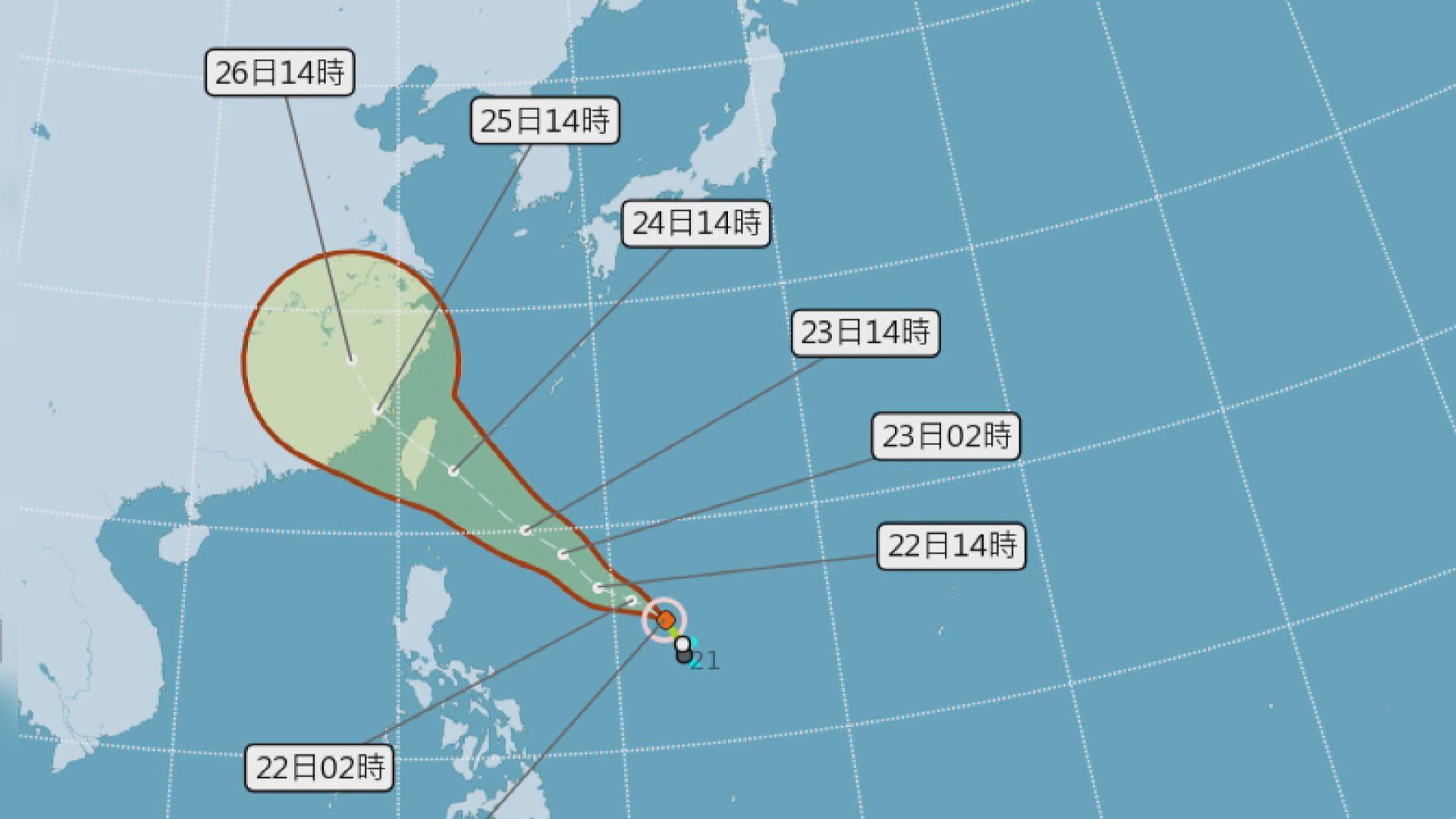 熱帶低氣壓白鹿移向台灣或周末登陸