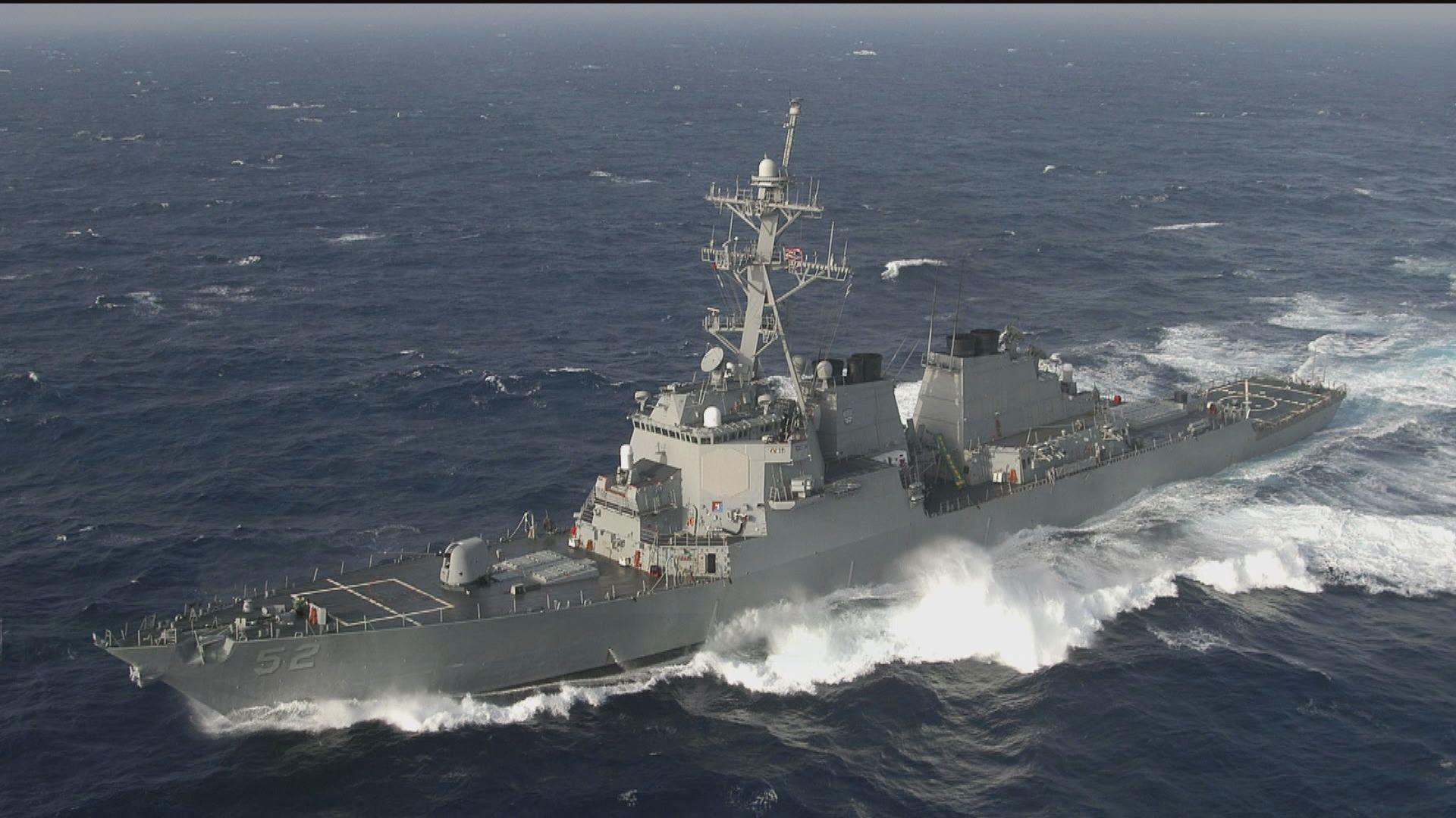 美軍軍艦穿越台海 為本月第二次
