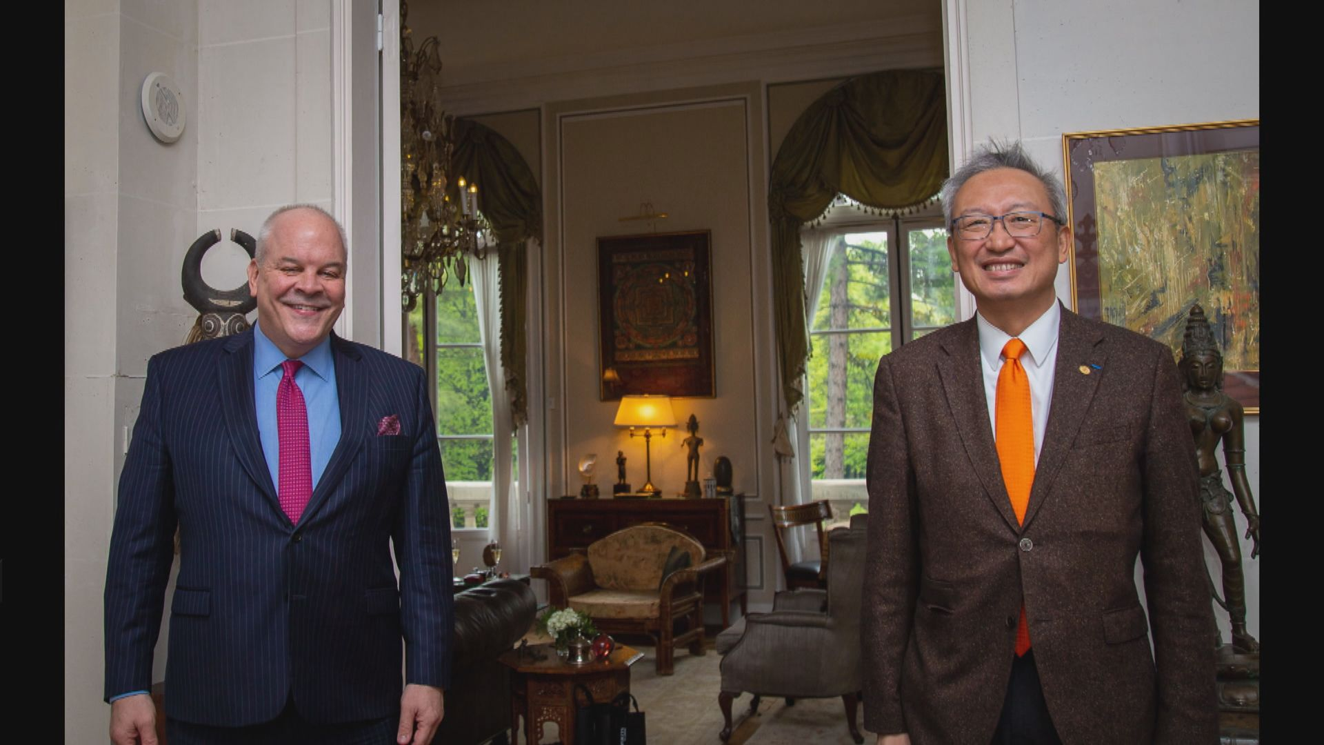 台灣駐法國代表應邀到訪美國駐法國大使館