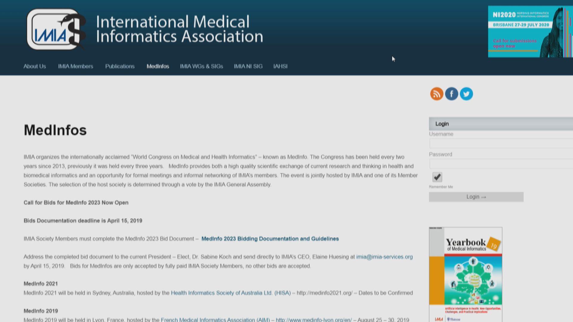 台灣AI權威任國際醫藥信息學會主席