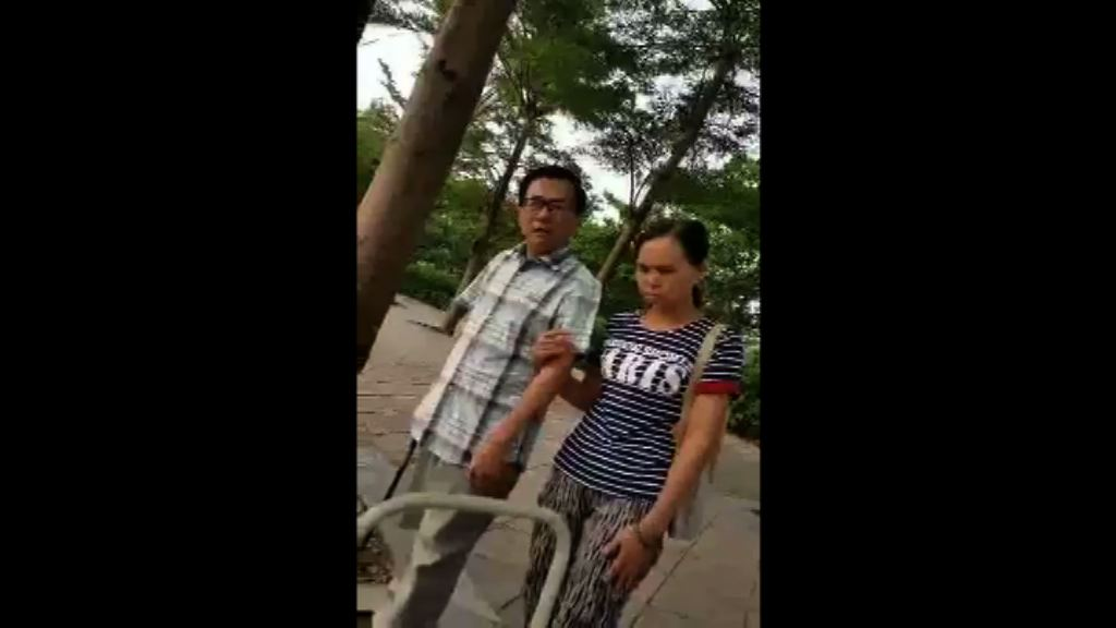陳水扁再被拍下外出散步影片