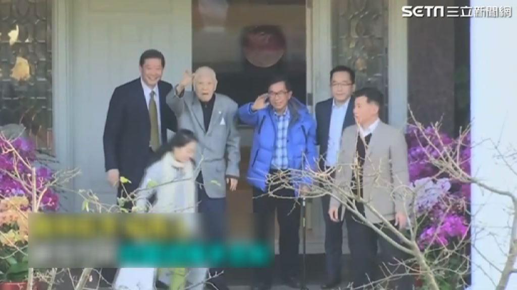 陳水扁到台北為李登輝賀壽