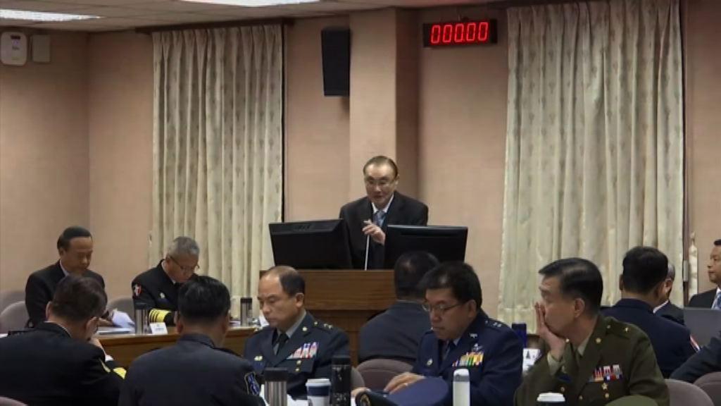 台灣軍方:有足夠武器將導彈境外擊落