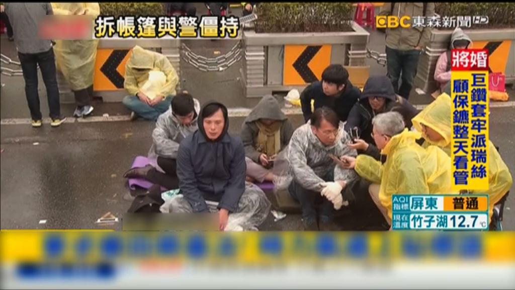 台灣立委靜坐絕食抗議勞基法