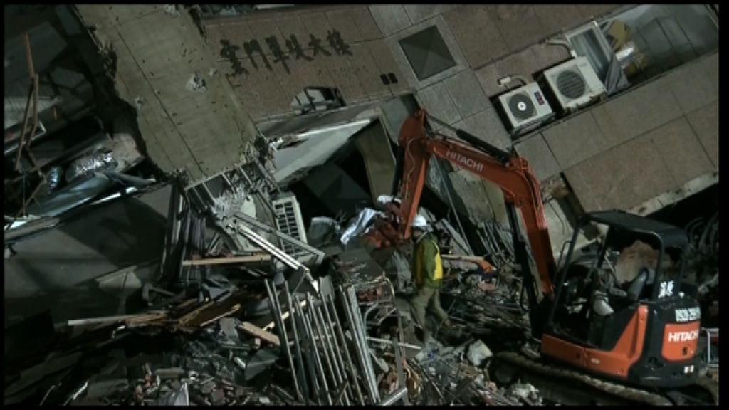 花蓮地震 救援人員尋獲失蹤大陸客袋子